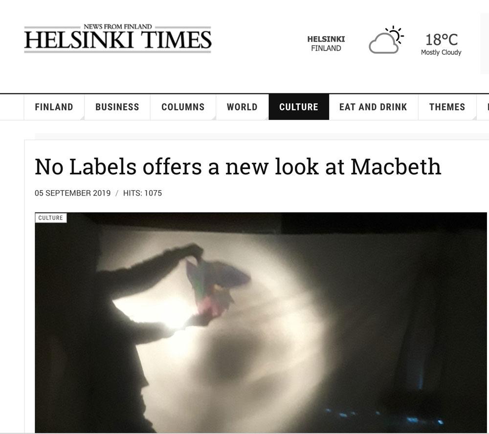 Helsinki Times Article